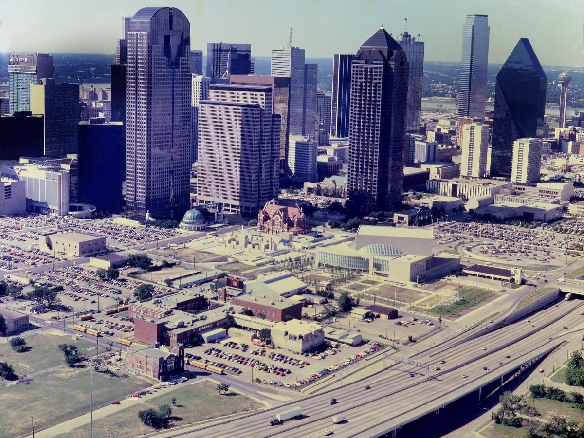 Dallas Arts District in 1980s