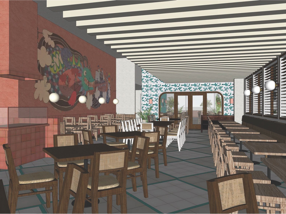 Original Ninfa's Uptown interior rendering