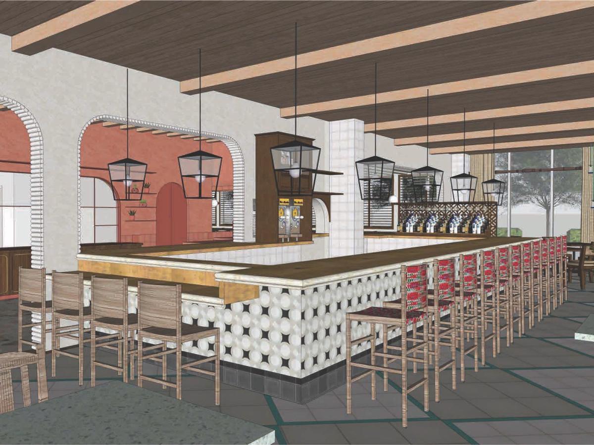 Original Ninfa's Uptown bar rendering