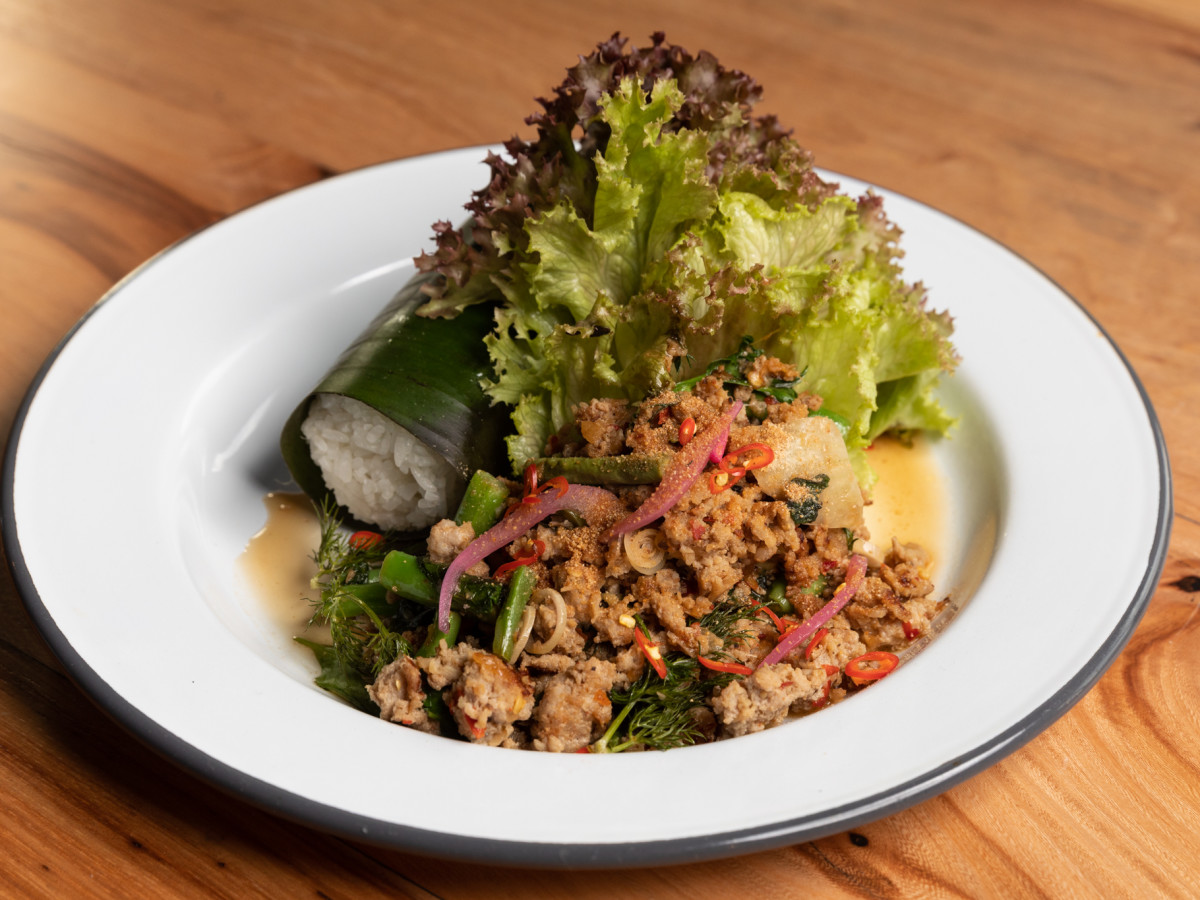 Decatur Bar & Pop-up factory Evelyn Garcia pork larb salad