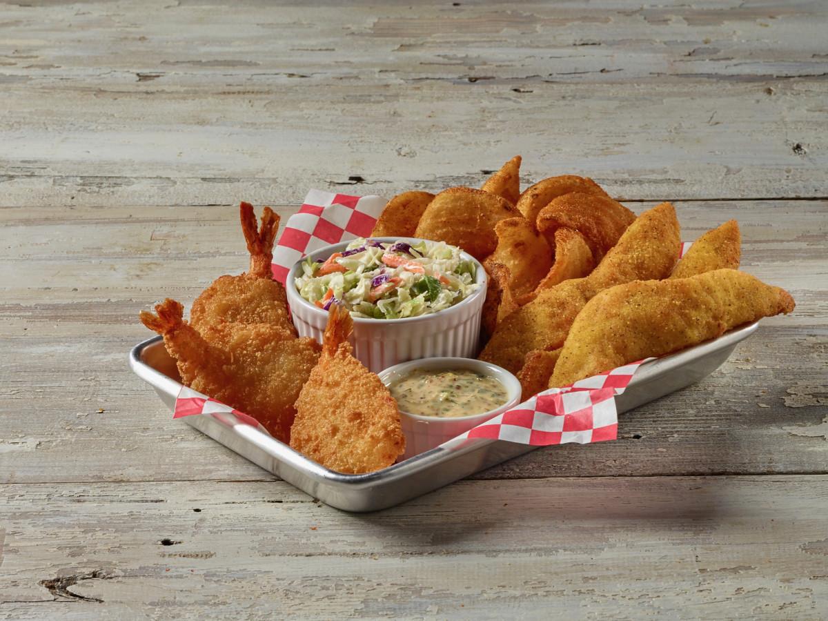 H-E-B True Texas Boil House fried seafood combo basket