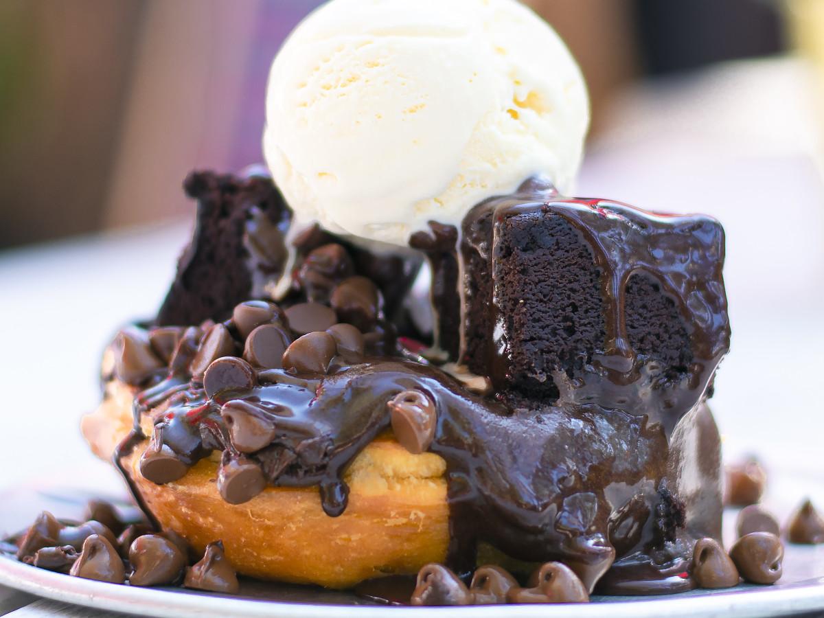 Gourdough's Black Out dessert