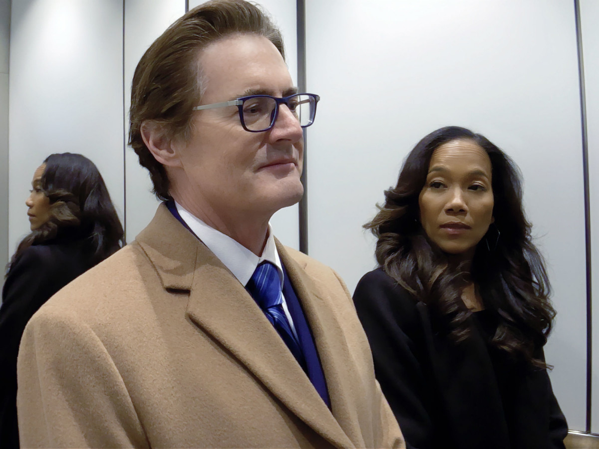 Kyle MacLachlan and Sonja Sohn in High Flying Bird