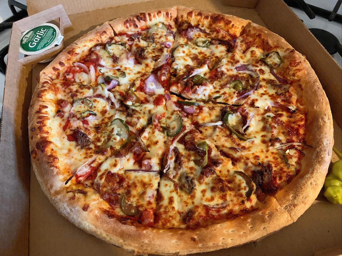 Papa John's Killen's Barbecue brisket pizza delivery