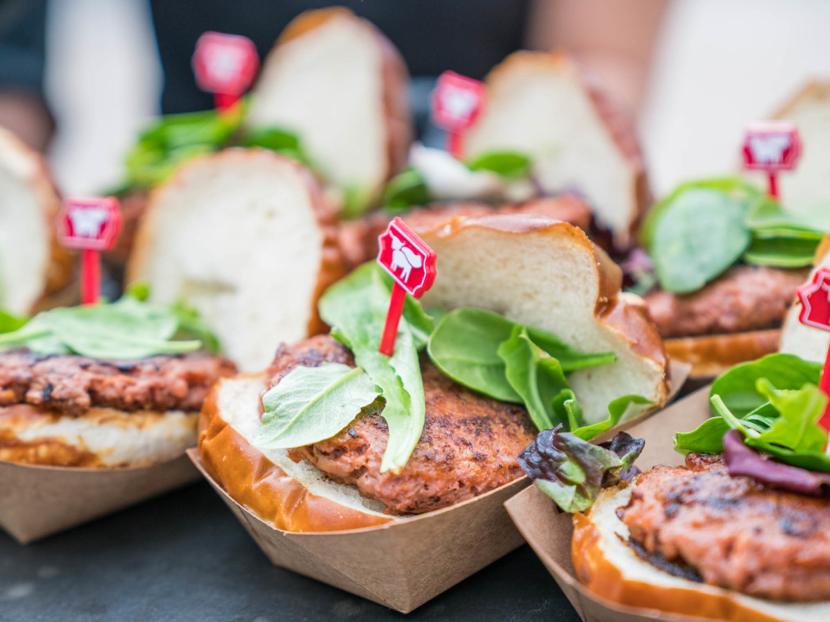 Create and Cultivate Austin SXSW 2019 at the Allan House Beyond Meat Burger