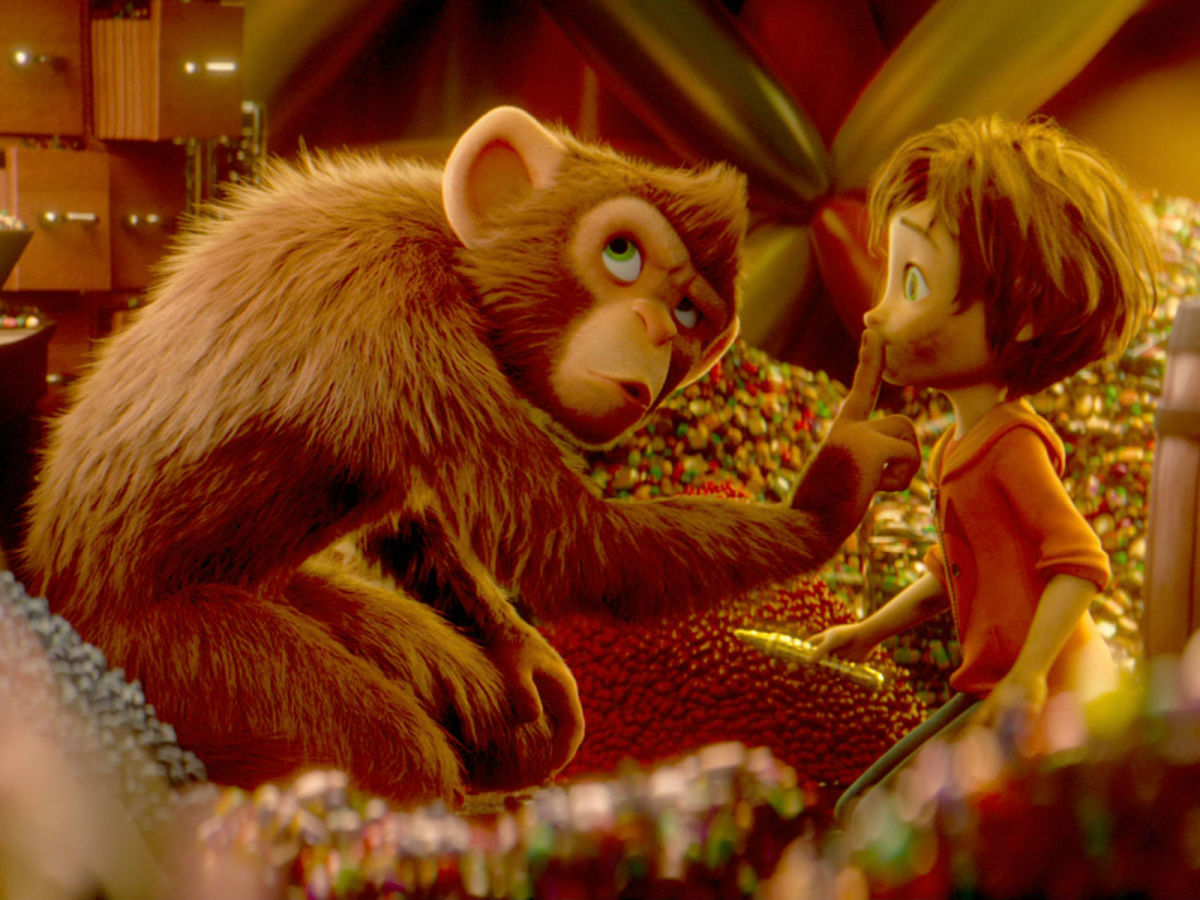 Peanut (Norbert Leo Butz) and June (Brianna Denski) in Wonder Park