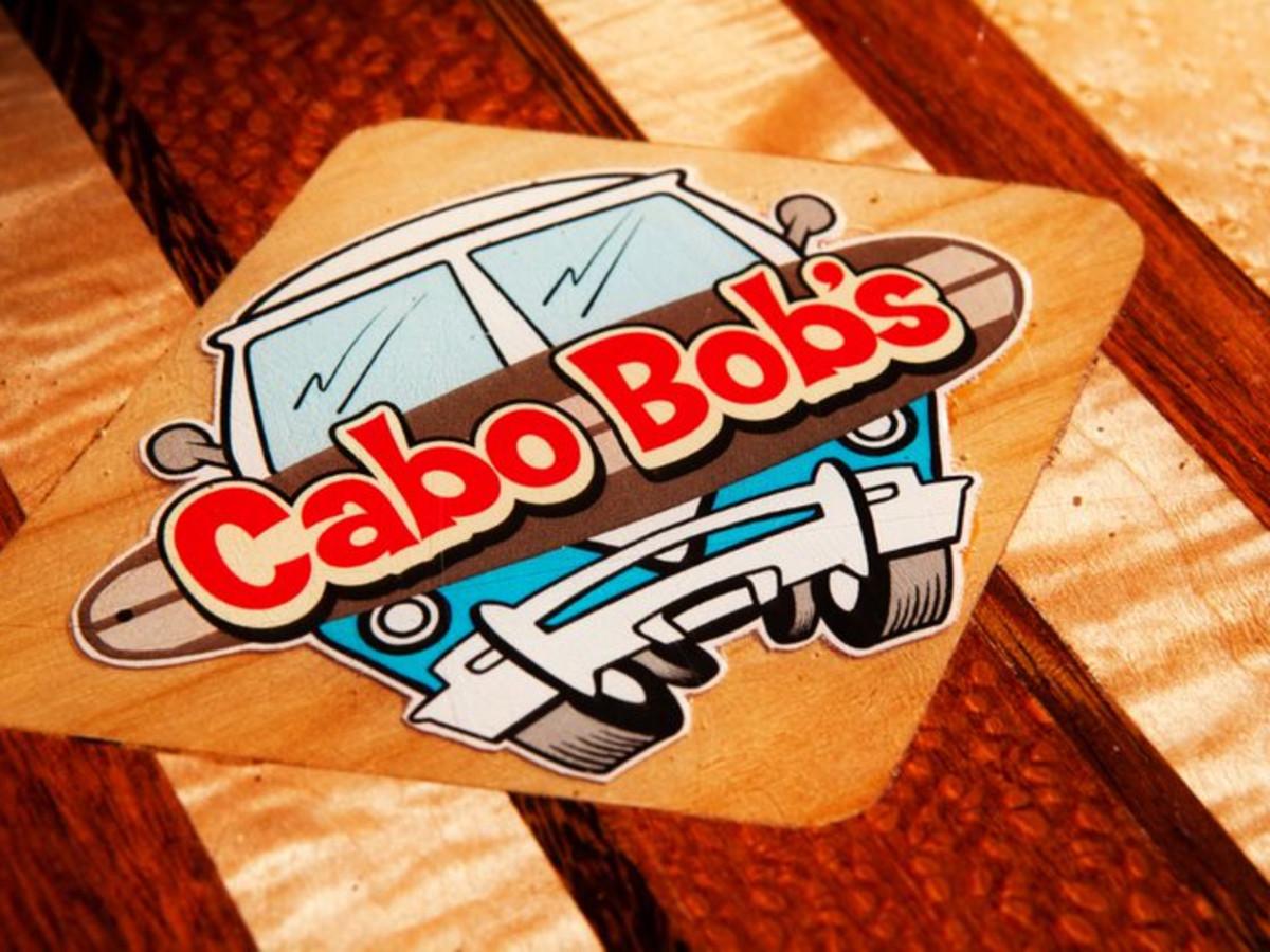 Cabo Bob's logo surfboard