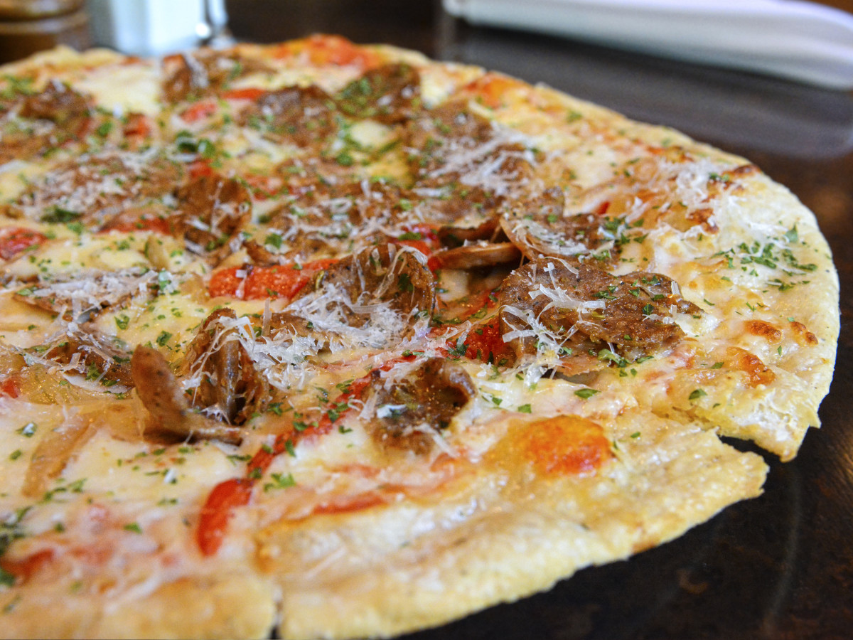 Sausage pizza from Zocca Cuisine d'Italia