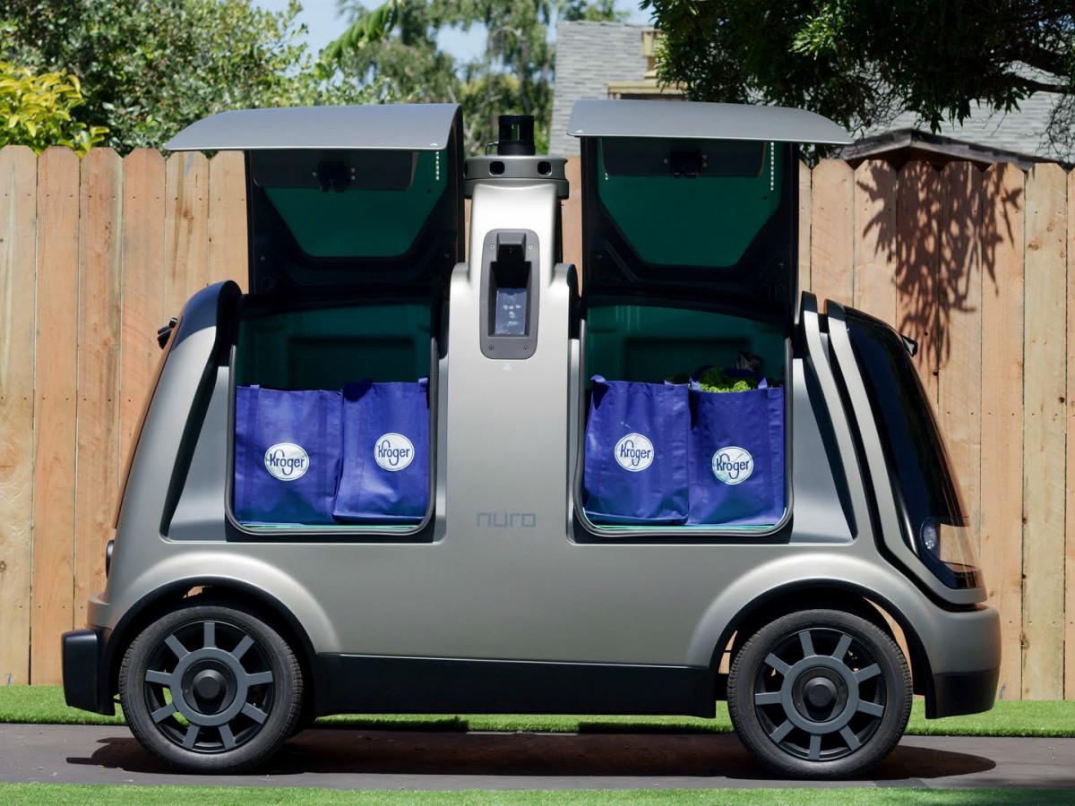 Kroger autonomous delivery car grocery