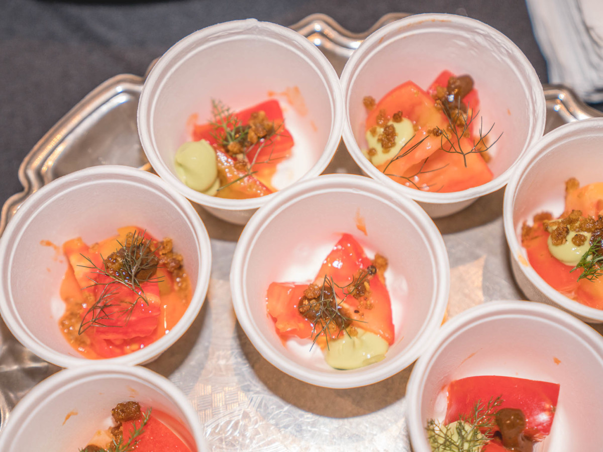 CultureMap Tastemakers 2019 Bob Bullock Museum Rosewood Tomato Salad