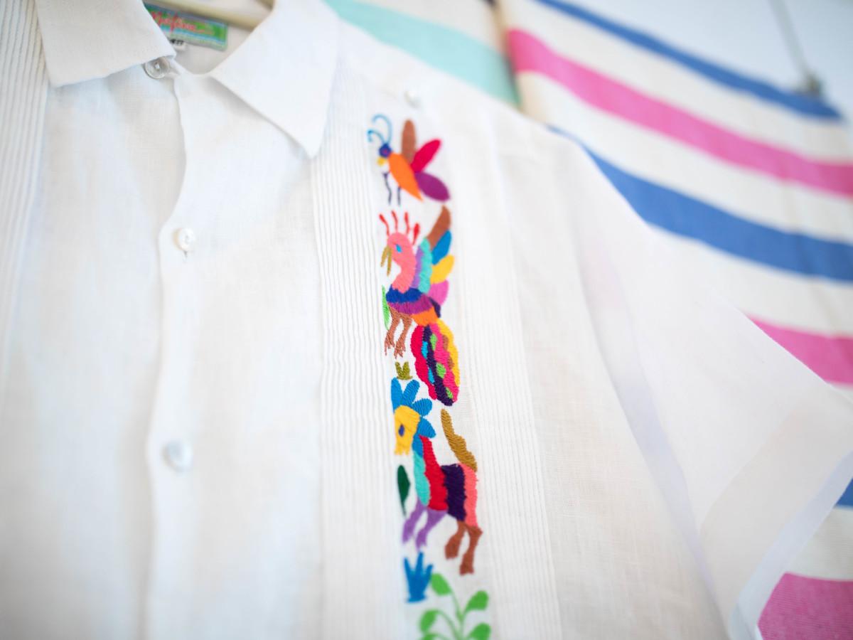 Nativa Fiesta fashion guaybera detail embroidery