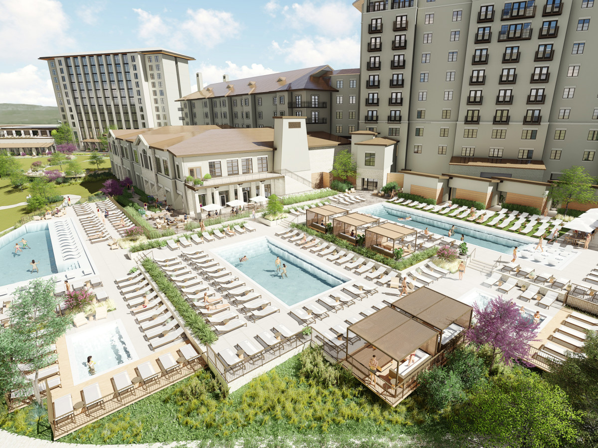 Exterior rendering of Omni Barton Creek Resot