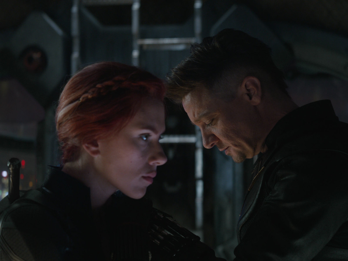 Scarlett Johansson and Jeremy Renner in Avengers: Endgame