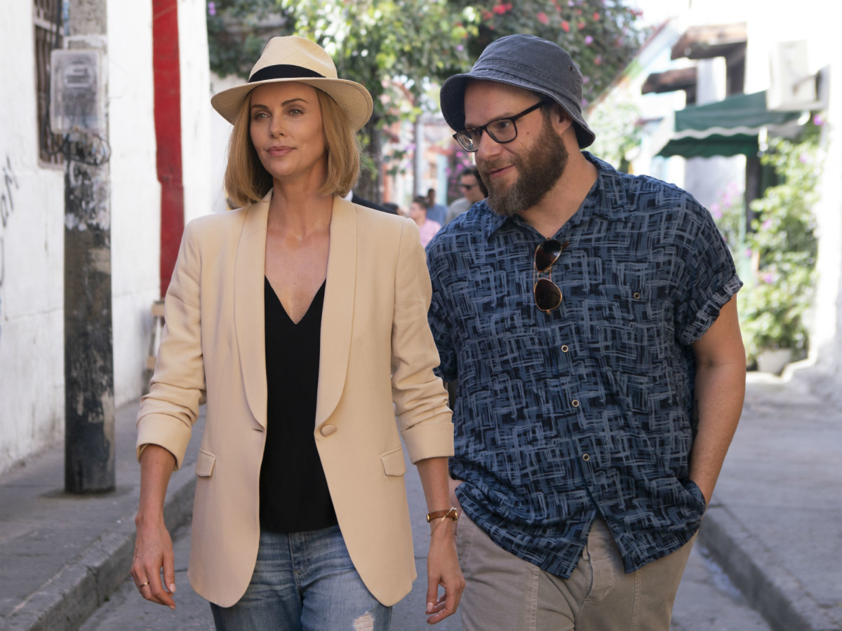 Charlize Theron and Seth Rogen in Long Shot