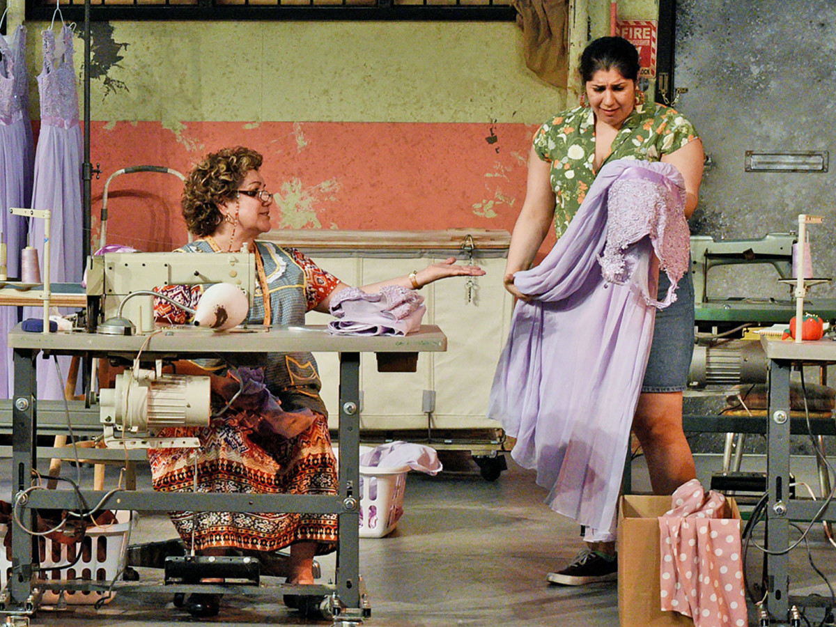 Blanca Araceli and Jamie Rezanour in Dallas Theater Center's Real Women Have Curves