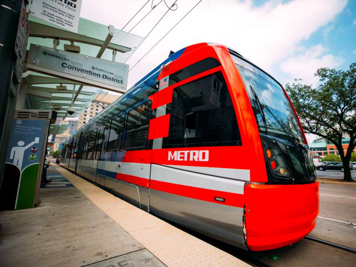 Metro Rail Houston downtown