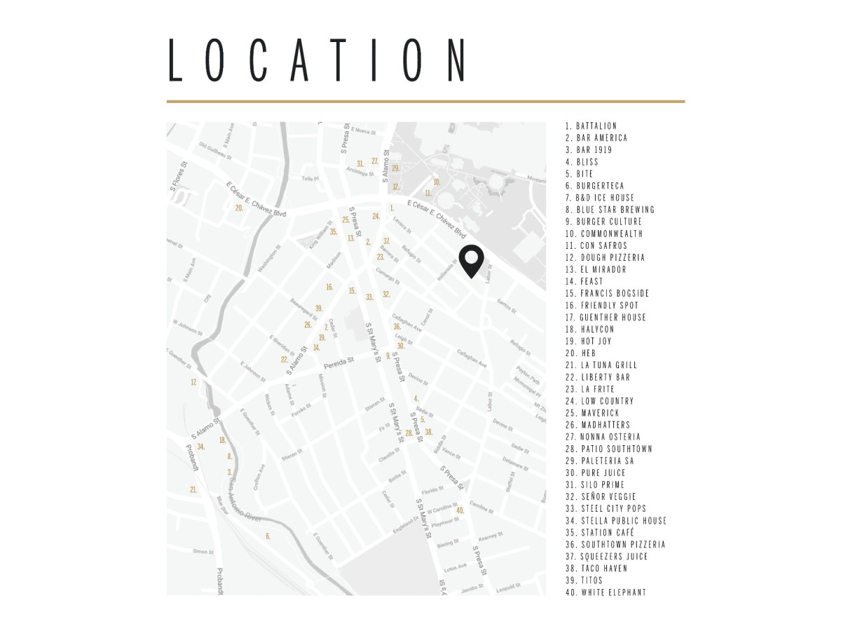Map of 323 Lavaca San Antonio home for sale