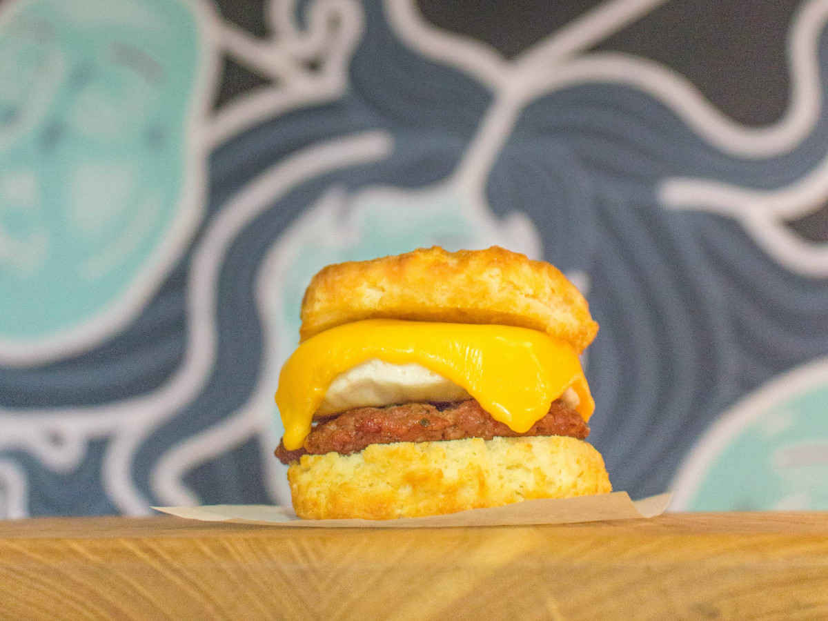 Swine House Bodega egg sandwich biscuit