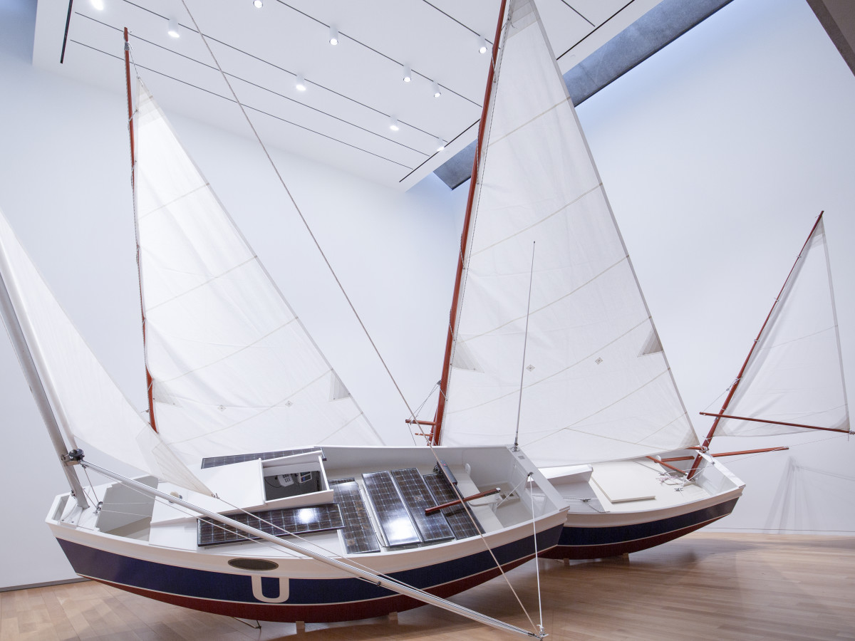 Chris Burden, Three Ghost Ships, 1991. Installation view, Places with a Past: New Site-Specific Art in Charleston, Spoleto Festival, Charleston, South Carolina, May 23–August 14, 1991