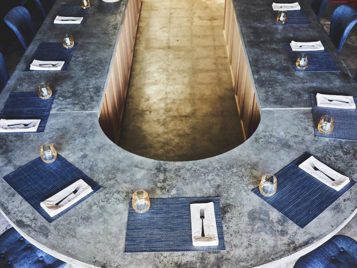 Restaurant Indigo Jonny Rhodes interior dining counter