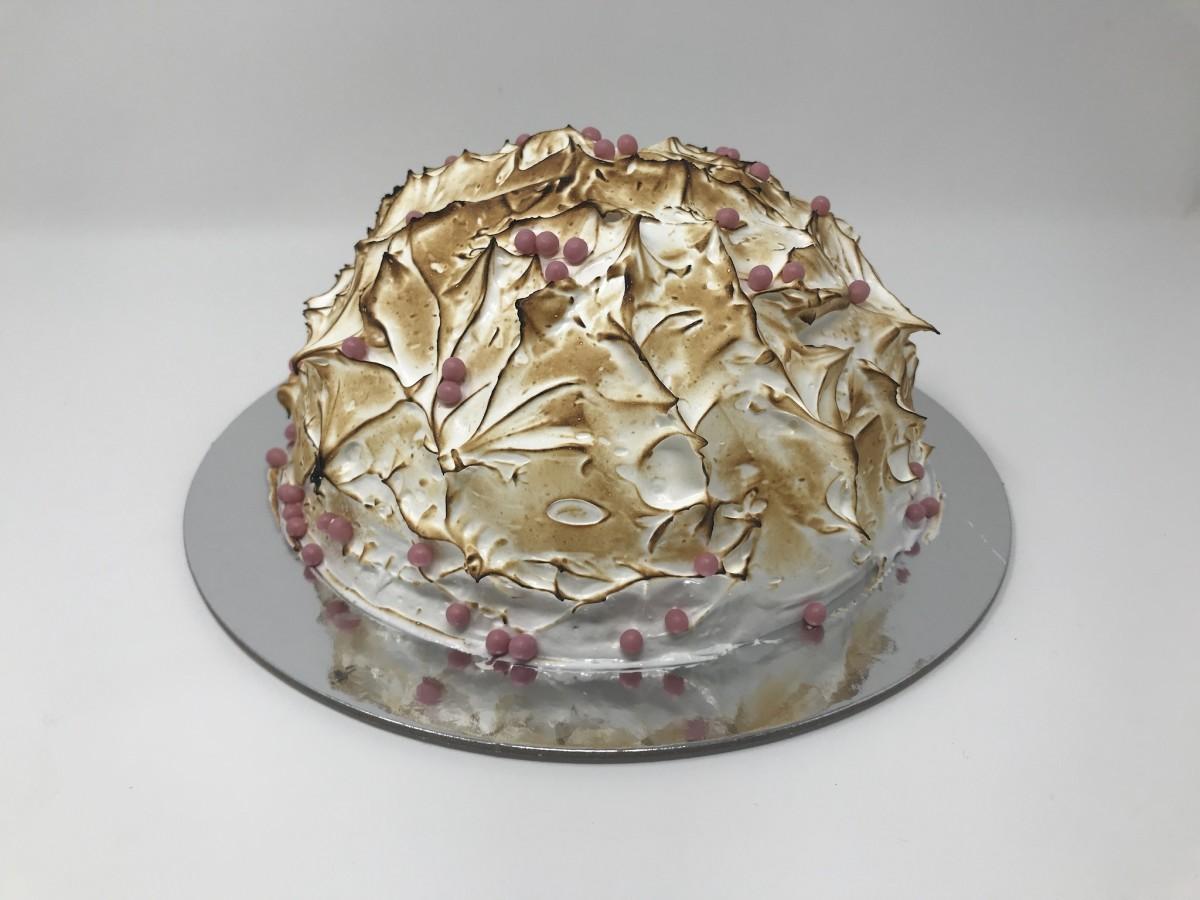 Cloud 10 Creamery baked Alaska cake