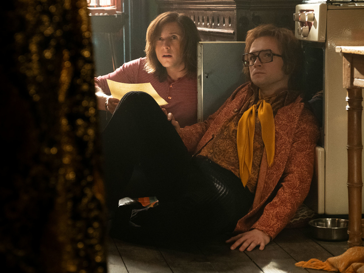 Jamie Bell and Taron Egerton in Rocketman