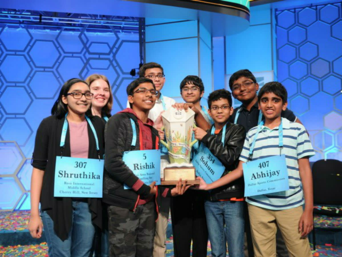 8 co-champions of the 2019 Scripps National Spelling Bee