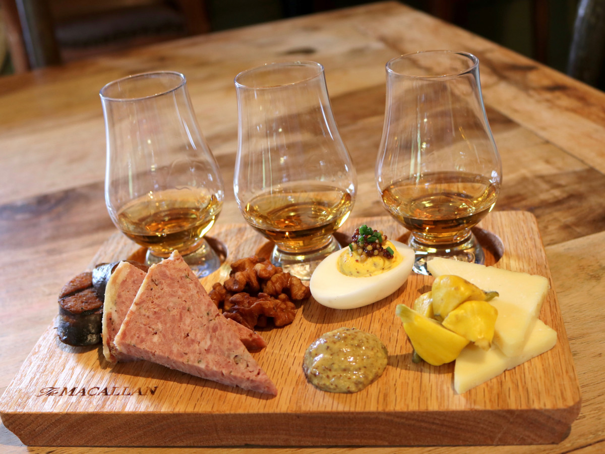 Rainbow Lodge Macallen Scotch and cheese board
