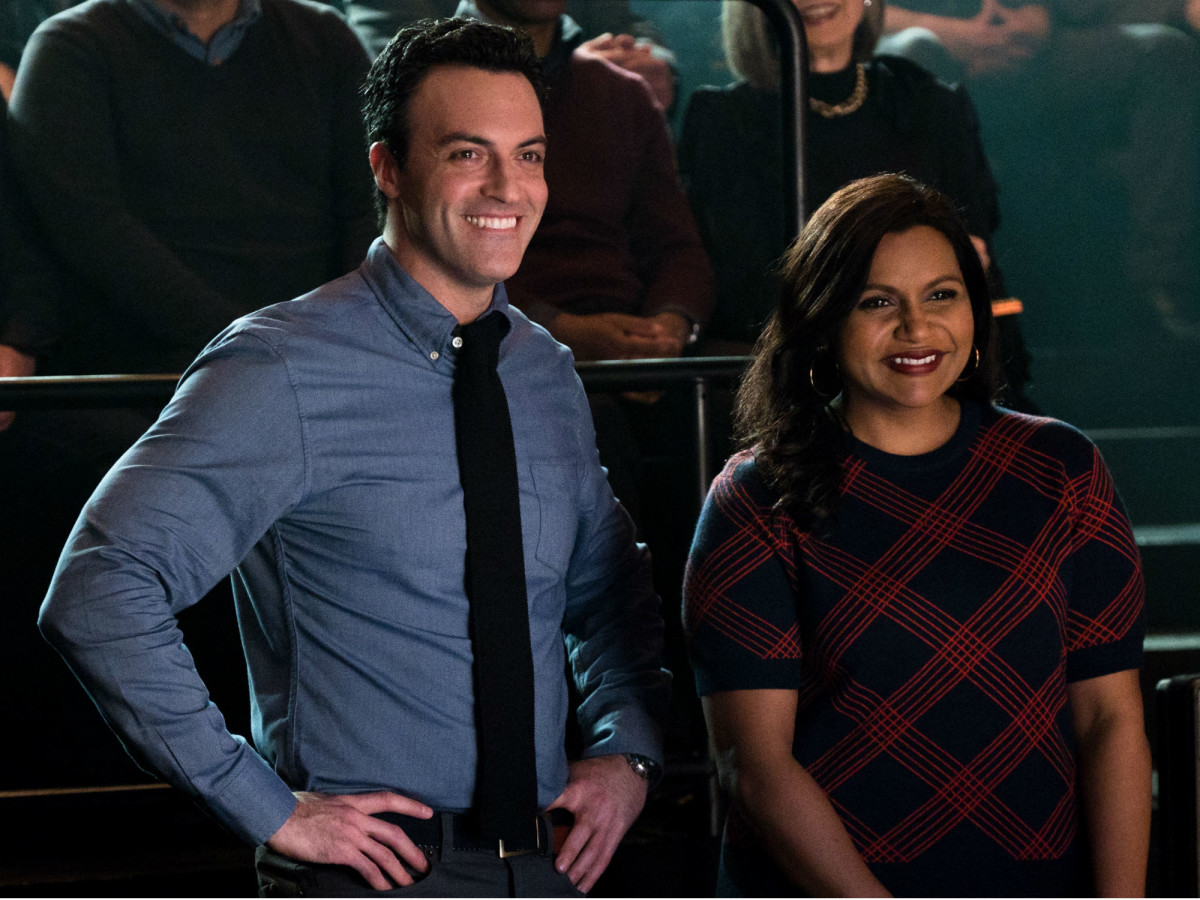 Reid Scott and Mindy Kaling in Late Night