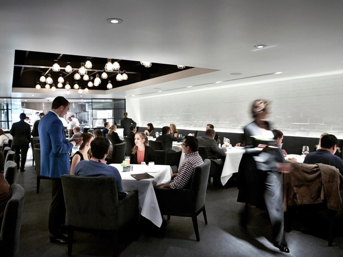 The Pass & Provisions Houston restaurant interior dining room crowd