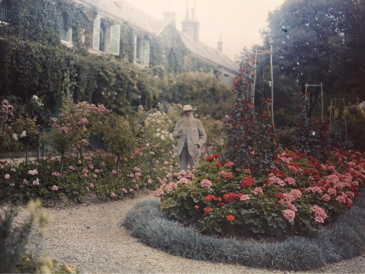 Monet in His Garden at Giverny 1921