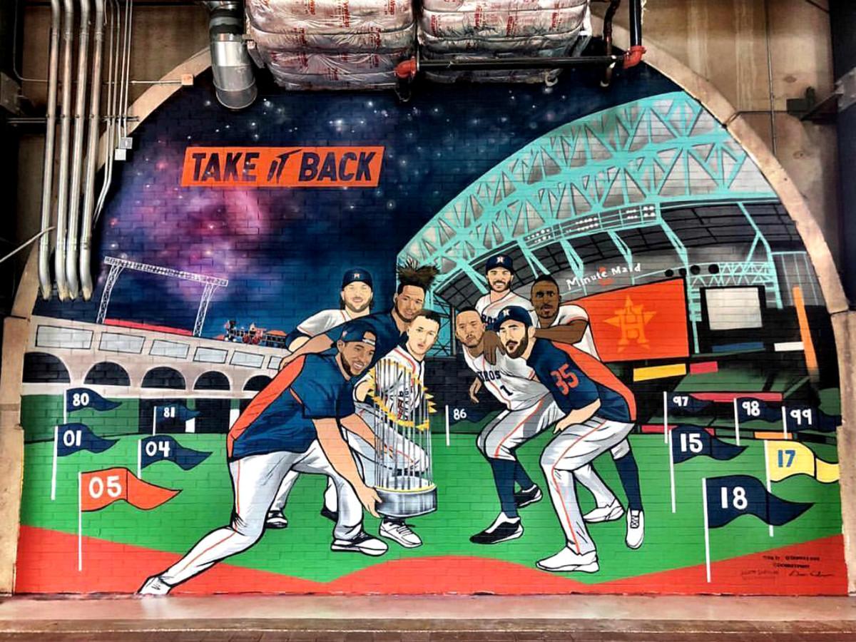 Donkeeboy mural Houston Astros