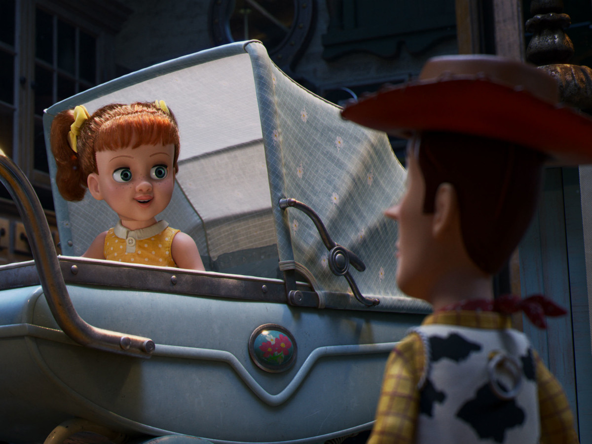Gabby Gabby and Woody in Toy Story 4
