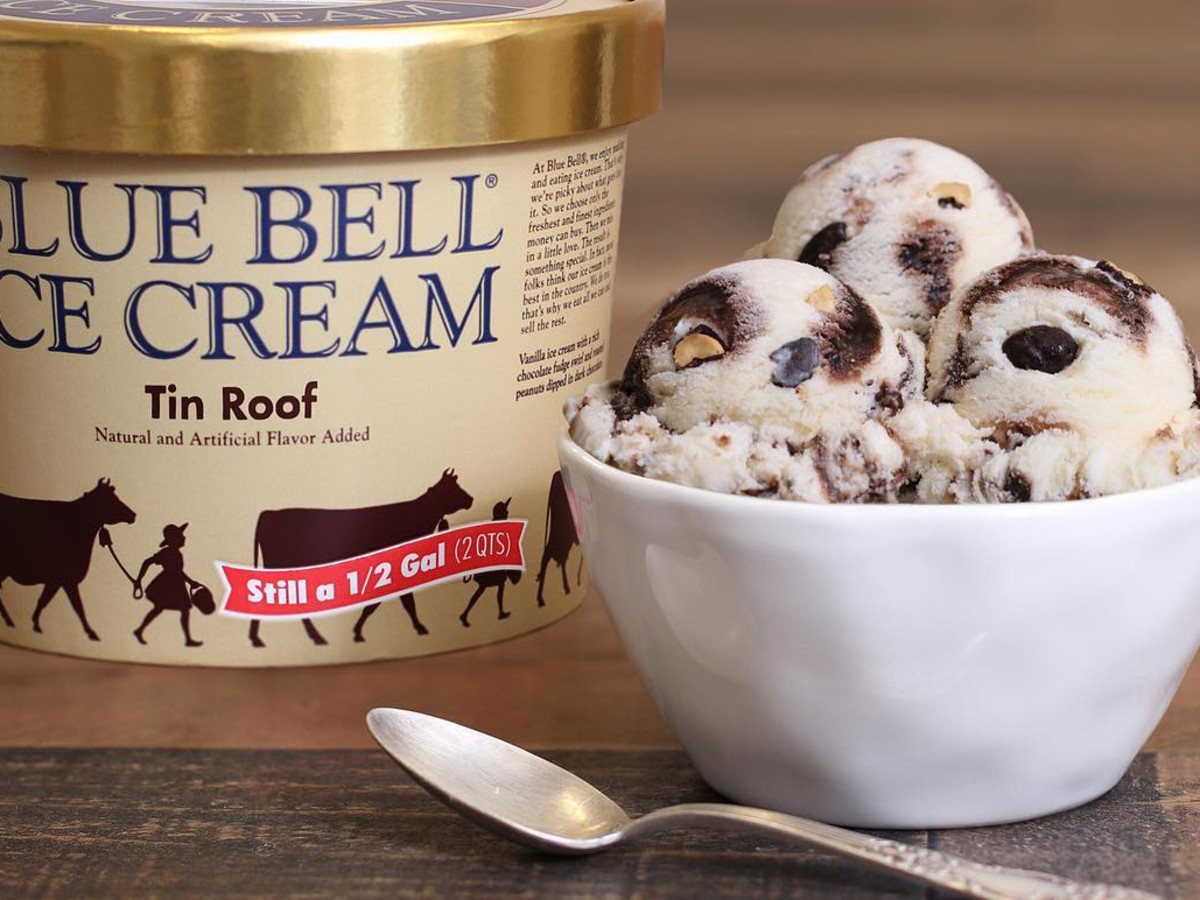 Blue Bell Tin Roof ice cream