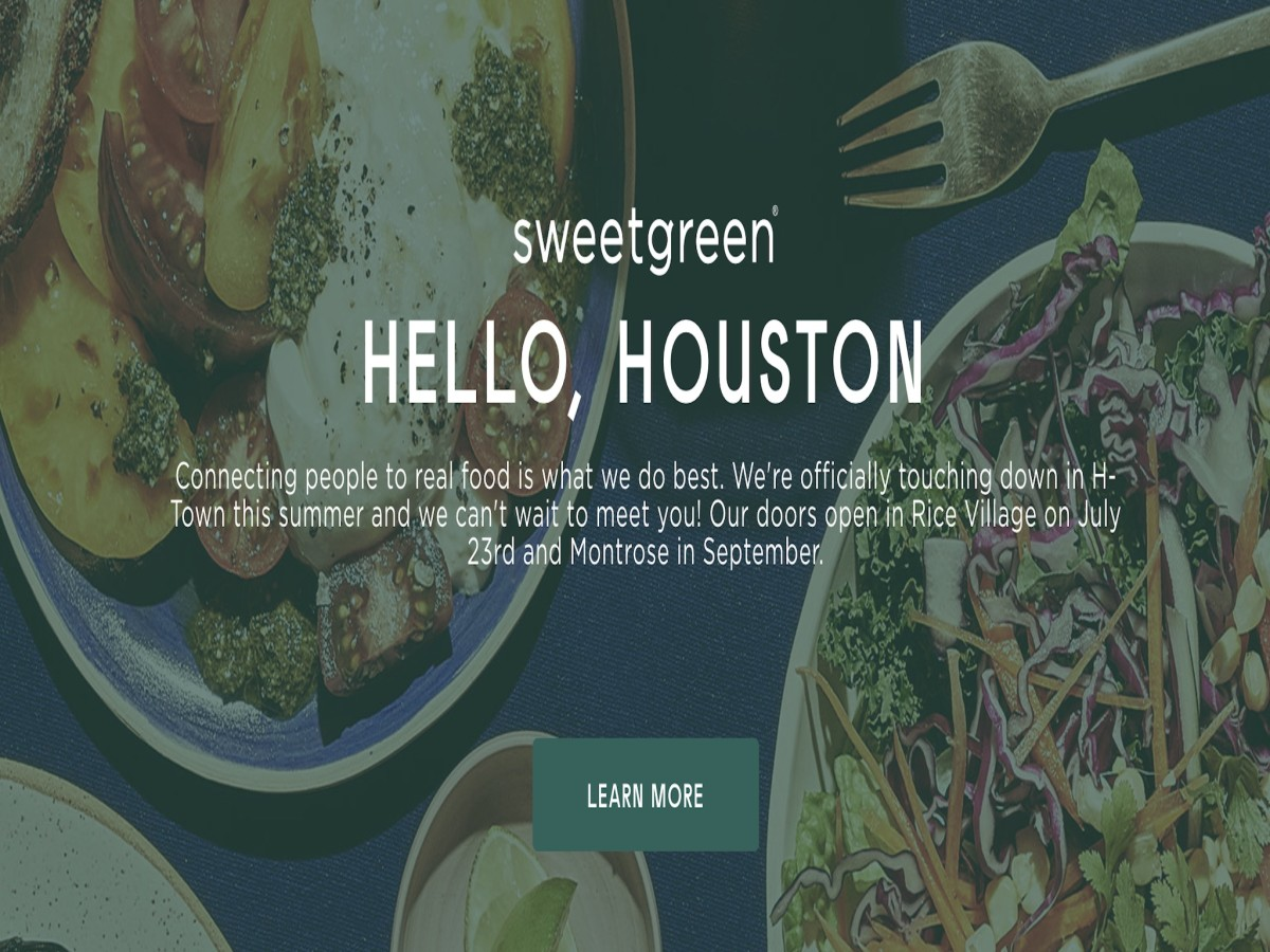 Sweetgreen opening date screen capture