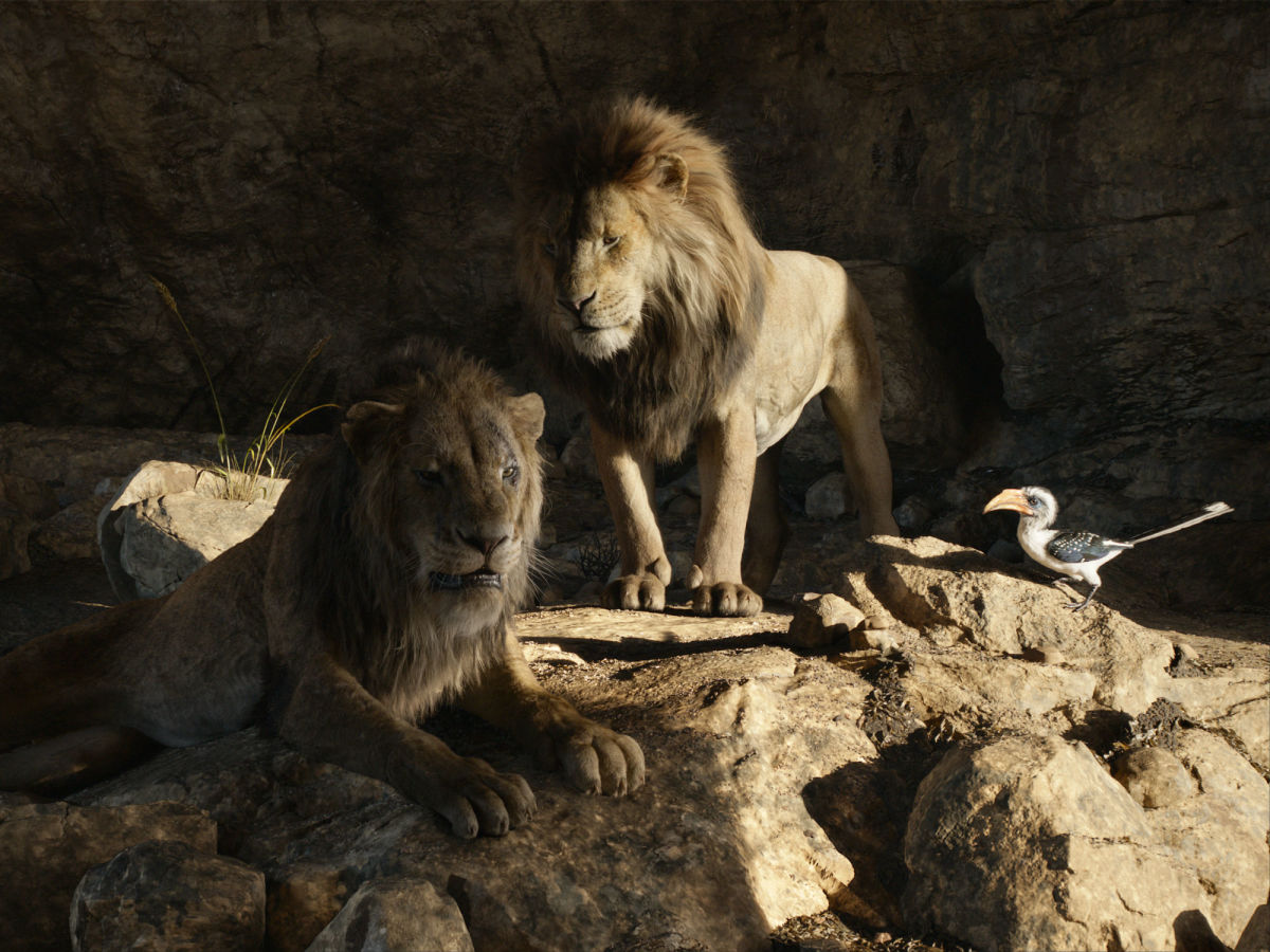Scar, Mufasa, and Zazu in The Lion King