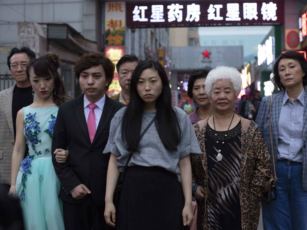 Awkwafina and the cast of The Farewell