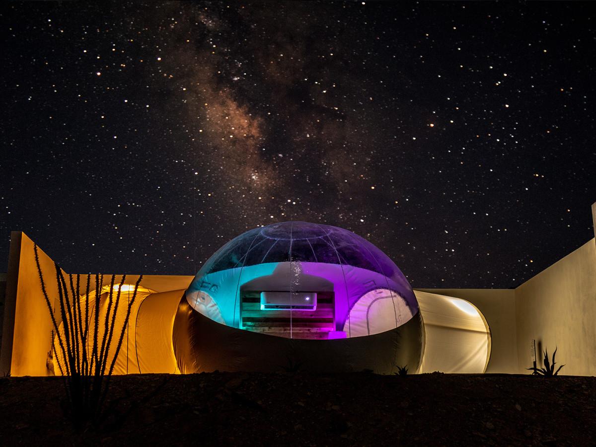 Basecamp Terlingua bubble tipi tent West Texas