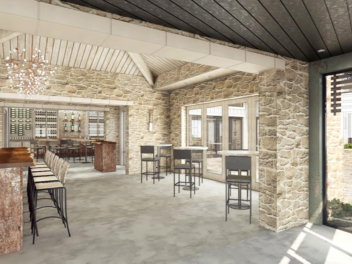 Mutiny Wine Room tasting room rendering
