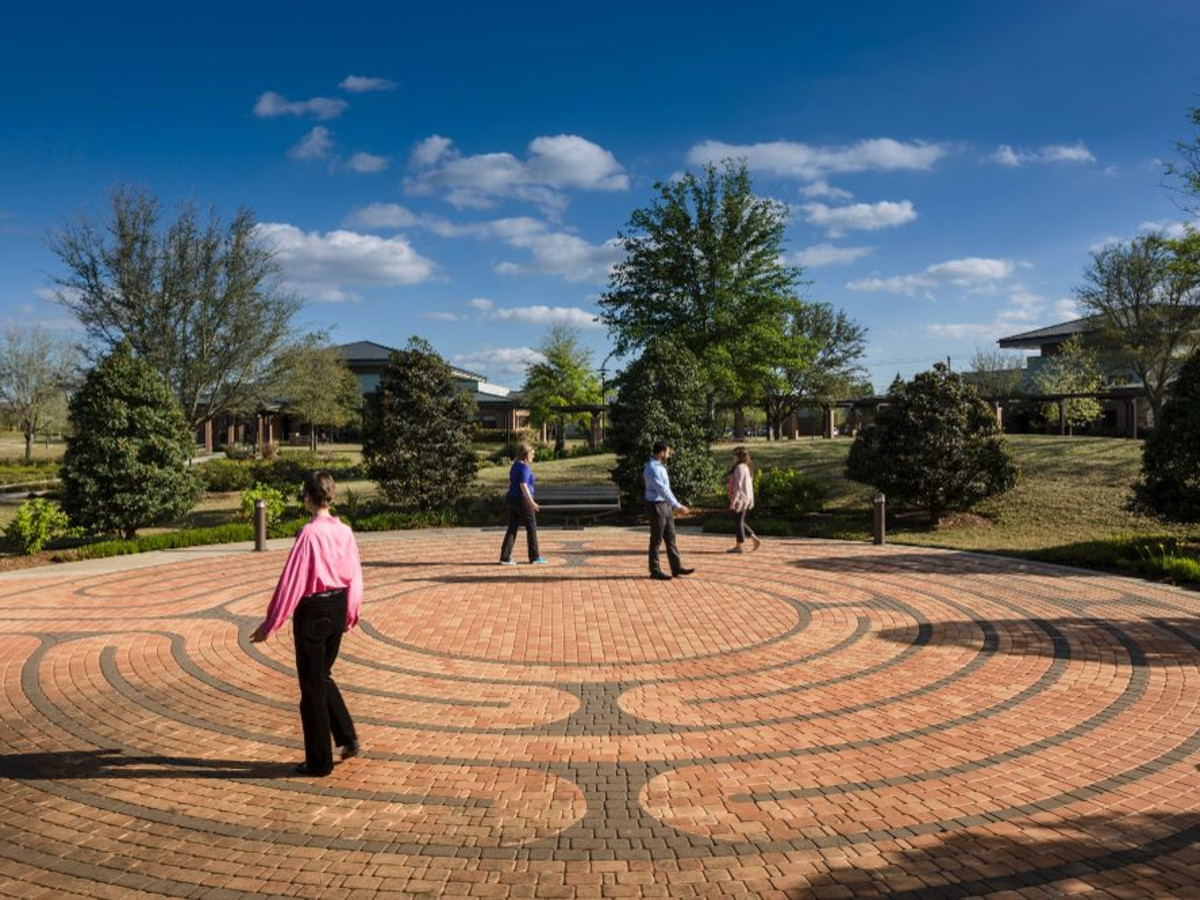 The Menninger Clinic labyrinth