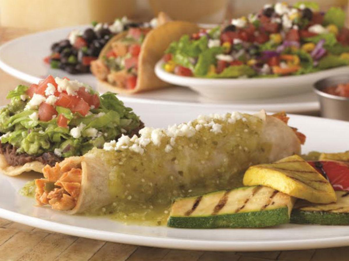 On the Border enchiladas