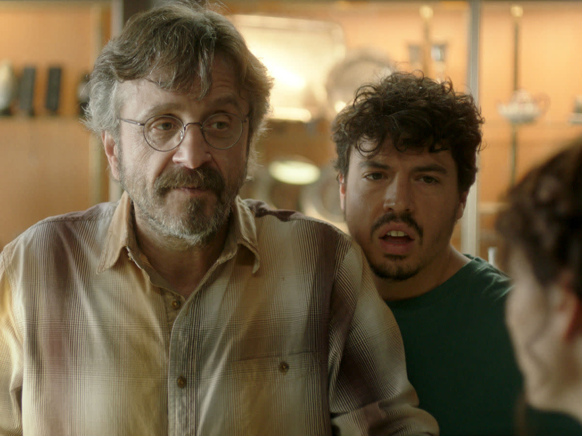 Marc Maron and Jon Bass in Sword of Trust