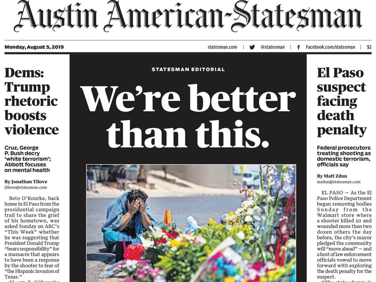 Austin American Statesman masthead August 5 2019