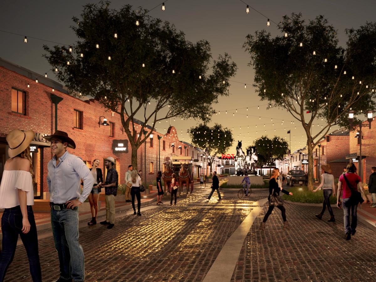 Mule Alley rendering, Fort Worth Stockyards