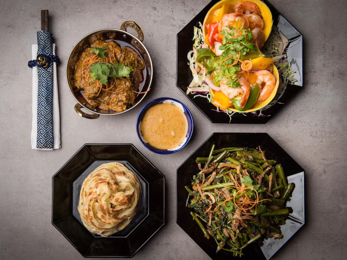 Phat Eatery Beef Rendang, Mango Prawn, Kang Kung, Roti