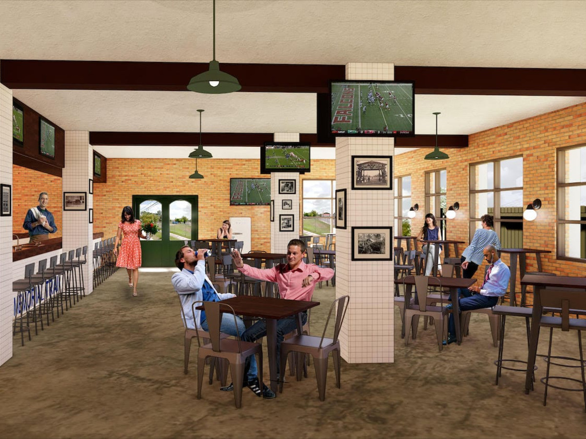 Memorial Trail Ice House rendering interior
