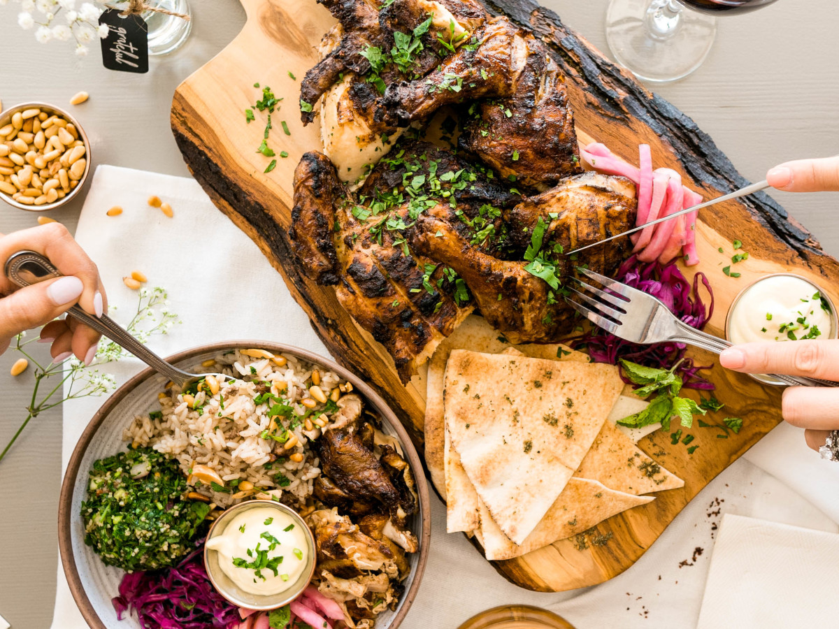 Craft Pita roast chicken and sides
