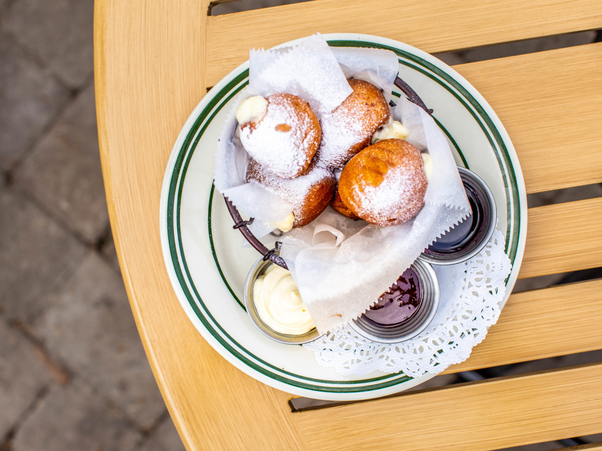 B.B. Lemon custard beignets