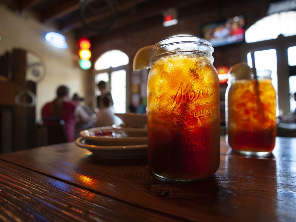 Cocktail in a mason jar