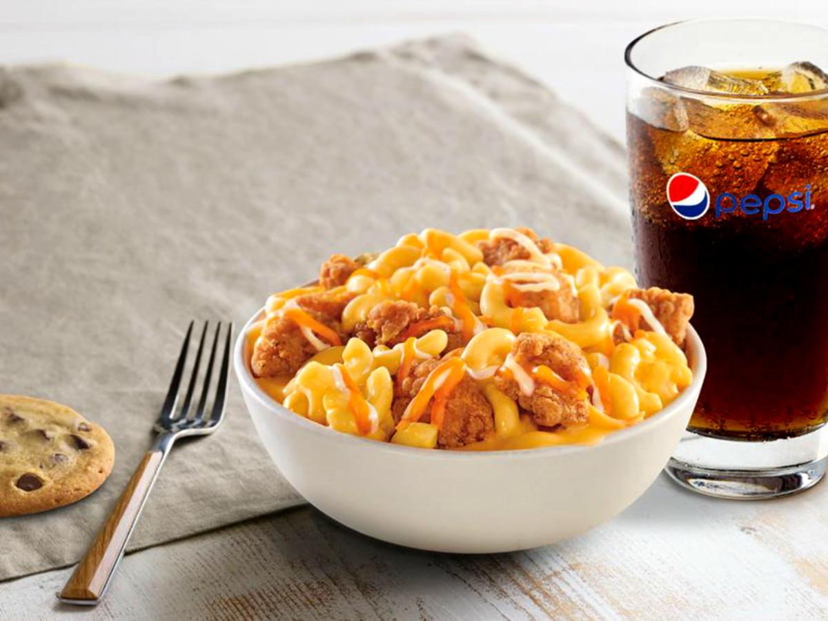 Drive-Thru Gourmet - KFC mac & cheese bowl